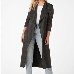 NWT❗️Faux Suede Drape Coat